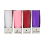 "Mega Candles - 4 pcs 2"" x 5"" Scented Ribbed Pillar Candle in Box - Asst"