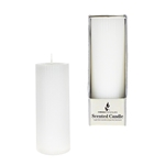 "Mega Candles - 2"" x 5"" Scented Ribbed Pillar Candle in Box - White"