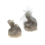 Pair of Elephants Candle - Gray