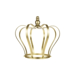 "Mega Crafts - 10"" Monarch Royal Crown without Rhinestones - Gold"