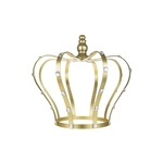 "Mega Crafts - 10"" Monarch Royal Crown with Rhinestones - Gold"