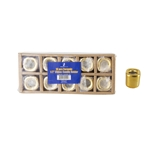 "Mega Candles - 10 pcs Ceramic 1/2"" Chime / Spell Candle Holder - Gold"