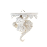 Mega Favors - Angel Praying Under Balcony Wall Plaque - White