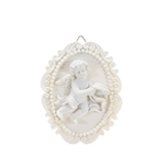 Mega Favors - Angel Medallion Wall Plaque - White