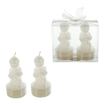 Mega Candles - 2 pcs Baby Angel Tealight Candle in Clear Box - White