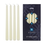 "Azure Candles - 12 pcs 10"" Unscented Glazed Taper Candle - Ivory"