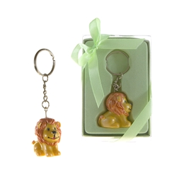 Mega Favors - Baby Lion Poly Resin Key Chain in Gift Box