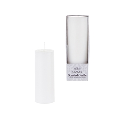 "Mega Candles -3"" x 3"" Scented Round Pillar Candle in Box - White"