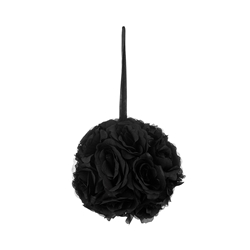 "Mega Crafts - 8"" Artificial Flower Pomander Kissing Ball - Black"