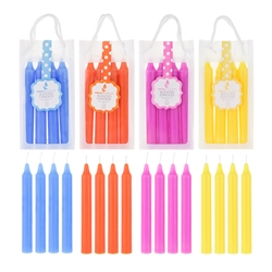"Mega Candles - 4 pcs 6"" Scented Candlestick in Hanging PVC Bag - Asst"