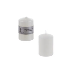 "Mega Candles - 2"" x 3"" Unscented Dome Top Press Pillar Candle - White"