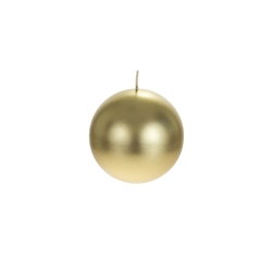"Mega Candles - 4"" Unscented Round Ball Candle - Gold"