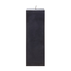 "Mega Candles - 3"" x 9"" Unscented Square Pillar Candle - Black"