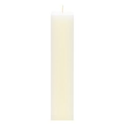 "Mega Candles - 2"" x 9"" Unscented Square Pillar Candle - Ivory"