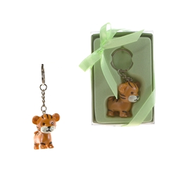 Mega Favors - Baby Tiger Poly Resin Key Chain in Gift Box