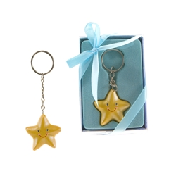Mega Favors - Baby Starfish Poly Resin Key Chain in Gift Box