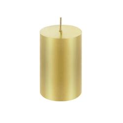 "Mega Candles - 2"" x 3"" Unscented Round Pillar Candle - Gold"