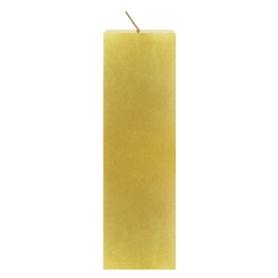 "Mega Candles - 2"" x 6"" Unscented Square Pillar Candle - Gold"