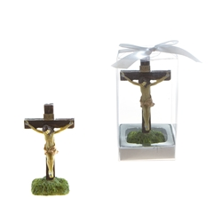 Mega Favors - Jesus on Cross Statue Poly Resin in Gift Box