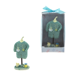 Mega Favors - Baby Clothes Hanging Poly Resin in Designer Box - Blue