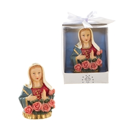 Mega Favors - Virgin Mary Bust Poly Resin in a Designer Box