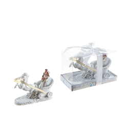 Mega Favors - Wedding Couple on Horse Carriage Poly Resin in Gift Box