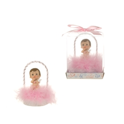 Mega Favors - Baby Sitting Under Arch Poly Resin in Gift Box - Pink