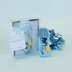 Mega Favors - Baby Safety Pin Poly Resin in Gift Box - Blue