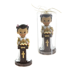 Mega Favors - Ethnic Toddler Preaching in Clear Box - Pink