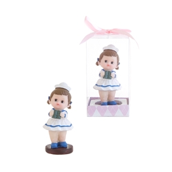 Mega Favors - Baby Wearing Sailor Uniform Poly Resin in Gift Box - Pink