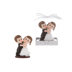 Mega Favors - Baby Wedding Couple Dancing Poly Resin in Gift Box