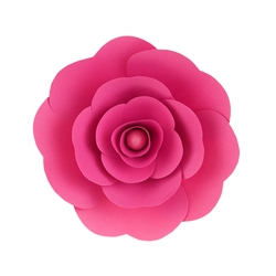 "Mega Crafts - 12"" Paper Craft Pedal Flower - Fuchsia"
