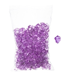 Mega Crafts - 1 Pound Acrylic Decorative Ice Rocks Cube - Lavender