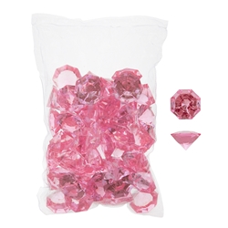 Mega Crafts - 1 Pound Acrylic Decorative Large Diamonds - Pink