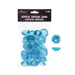 Mega Crafts - 1/2 Pound Acrylic Decorative Large Diamonds - Turquoise