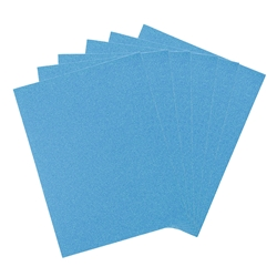 "Mega Crafts - 6 pcs 9"" x 12"" Metallic Glitter EVA Foam Sheet - Blue"