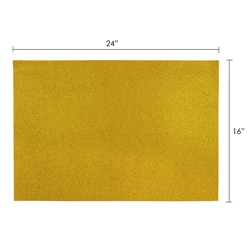 "Mega Crafts - 6 pcs 16"" x 24"" Metallic Glitter Adhesive EVA Foam Sheet - Gold"