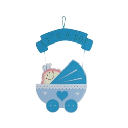 Mega Favors - Baby Carriage Party Fabric Decor - Blue