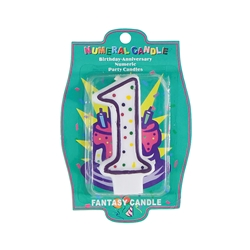 Mega Candles - Dotted Birthday Numbers Candle - 1