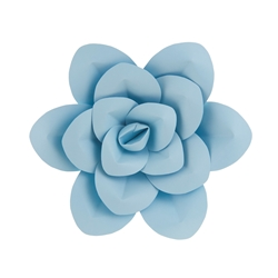 "Mega Crafts - 12"" Paper Craft Pedal Flower - Aqua"