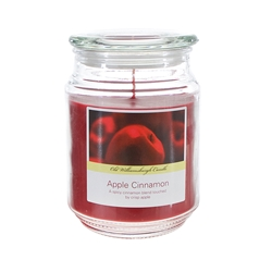Mega Candles - 18 oz. Country Dreams Scented Jar Candle - Apple Cinnamon
