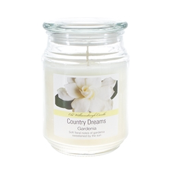 Mega Candles - 18 oz. Country Dreams Scented Jar Candle - Gardenia