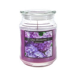 Mega Candles - 18 oz. Country Dreams Scented Jar Candle - Lilac Blossoms