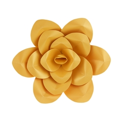 "Mega Crafts - 12"" Paper Craft Pedal Flower - Gold"