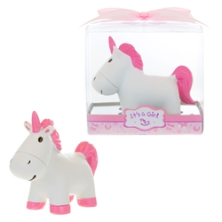 Mega Favors - Unicorn Poly Resin in Gift Box - Pink