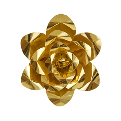 "Mega Crafts - 12"" Paper Craft Pedal Flower - Metallic Gold"