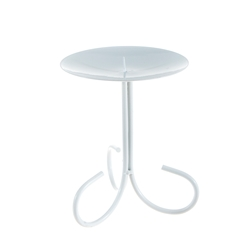 Mega Candles - Pillar / Round Metal Candle Holder - Matte White