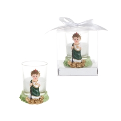 Mega Favors - Baby St. Judas Poly Resin Candle in Gift Box - White