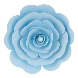 "Mega Crafts - 16"" Paper Craft Pedal Flower - Aqua"