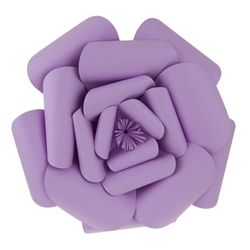 "Mega Crafts - 16"" Paper Craft Pedal Flower - Lavender"